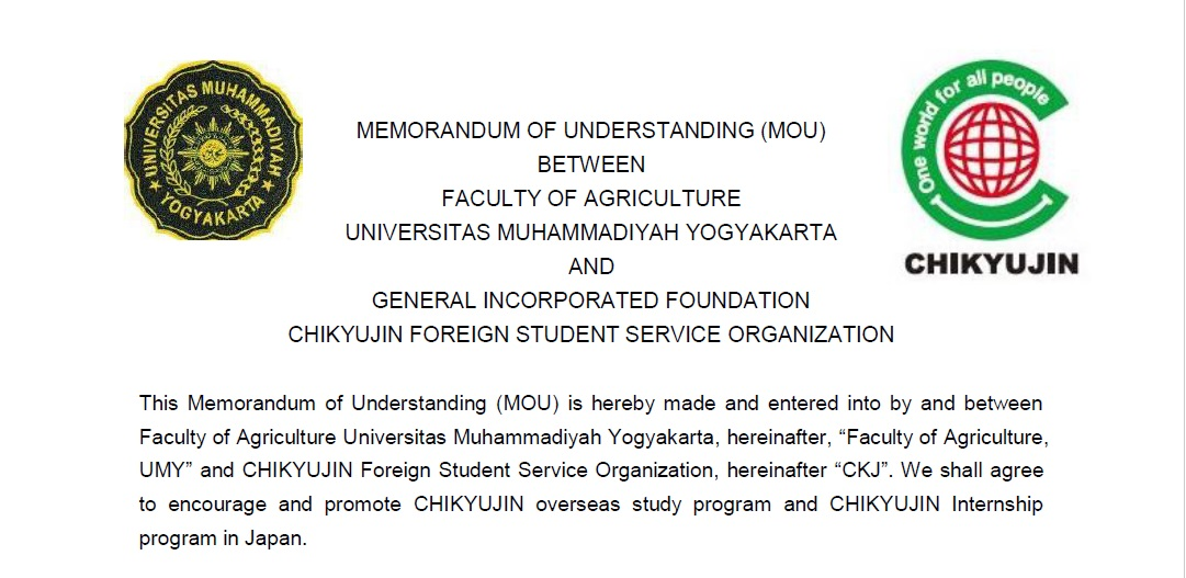 FP UMY Signing MoU With General Incorporated Foundation  Chikyujin Foreign Student Service Organization