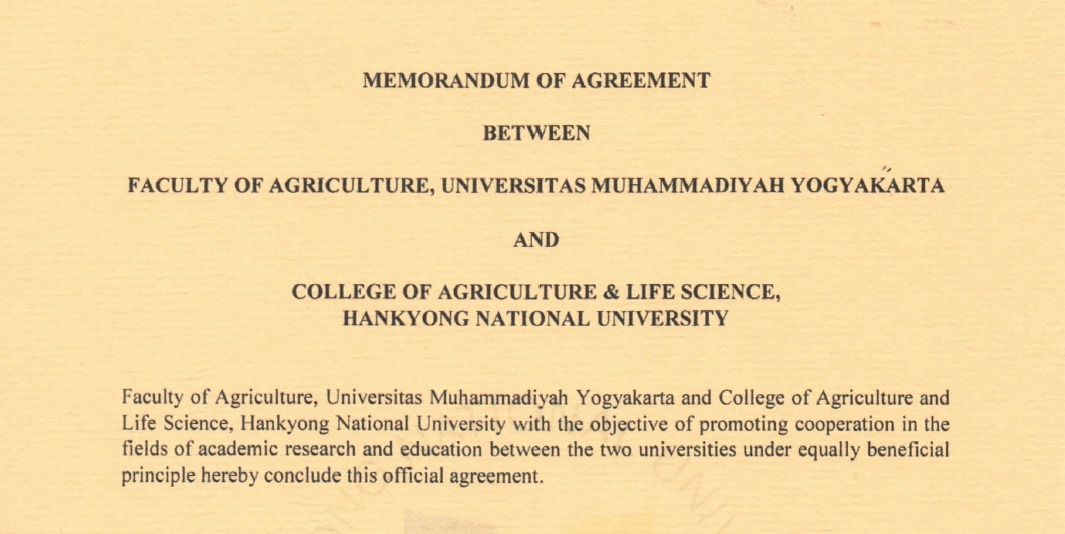 FP UMY Signing MoU With Hankyong National University