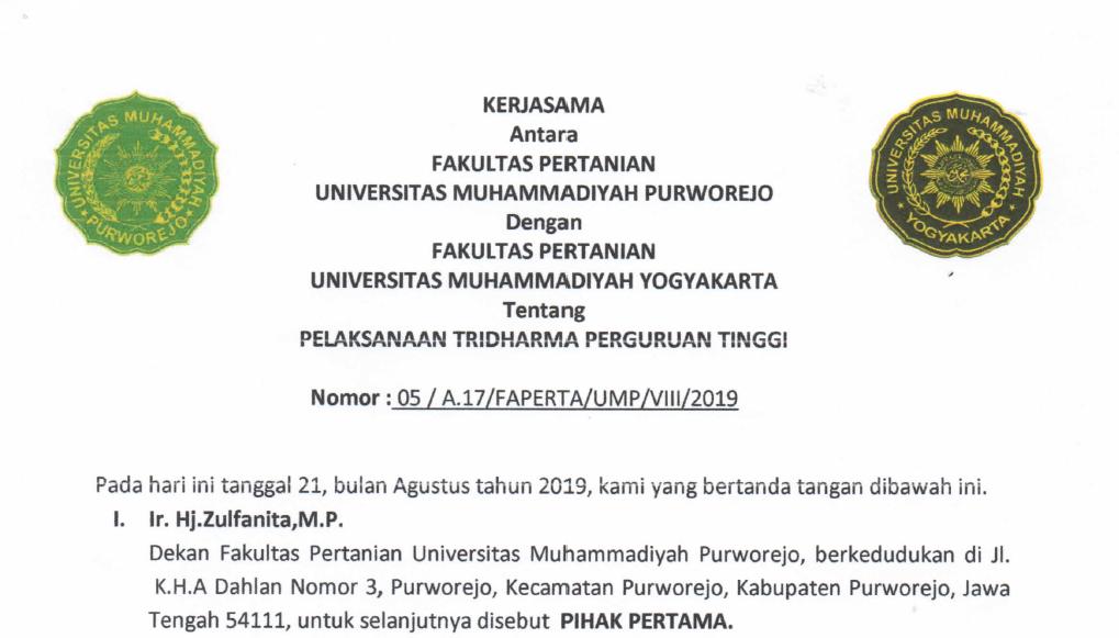 MoU FP Universitas Muhammadiyah Yogyakarta dengan FP Universitas Muhammadiyah Purworejo
